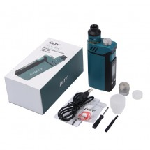 IJOY 200W RDTA Box with 12.8ml Built-in Tank Powered by Dual 18650 Batteries Firmware Upgradable- Teal