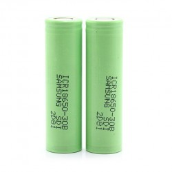 2PCS Samsung ICR 30B 18650 3.7V 3000mAh Li-ion Flat Top Batteries