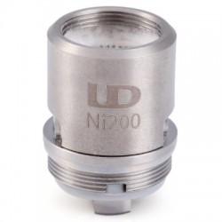 4PCS Youde UD Zephyrus Ni 200 OCC Dual Coil Head for Zephyrus Sub Ohm Tank - 0.15ohm