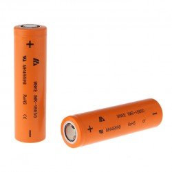 2pcs 25A MNKE  18650 IMR 1500mAh Li-ion  Flat Top 3.7V Rechargeable Batteries