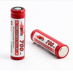 Efest IMR 14500 Li-Mn 700mAh 3.7V Rechargeable Battery Button Top -2pcs
