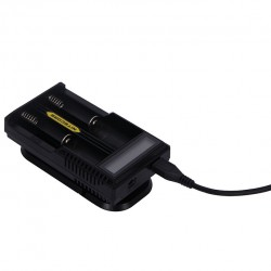 Nitecore UM20 Double Channels Charger with LCD Display - US Plug