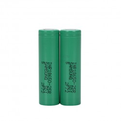 Samsung INR 25R 18650 3.6V 2500mAh Li-ion Flat Top Batteries