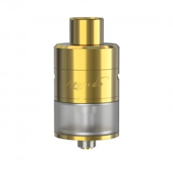 Geek Vape Avocado 24 RDTA 5.0ml Liquid Capacity 24mm Diameter Velocity Deck with Hinge Lock Fill System Tank-Golden