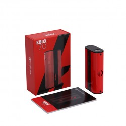 Kanger  KBOX 70W VW/TC Box Mod 4000mah Built-in Battery Spring-loaded 510 Connection Micro USB Charging Mod-Red