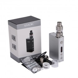 Smok Micro One Starter Kit Mirco 3.5ml TFV4 Tank with R80 80W TC Mod 4000mah Mod Kit Support SS/Ni200/Ti Wire Coils-Silver