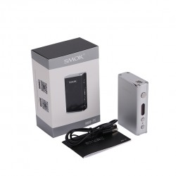 SMOK R80 80W TC Mod 4000mah Built-in Battery Support SS/Ni200/Ti Wire Coils Upgradeable Firmware Temperature Control Mod-Silver