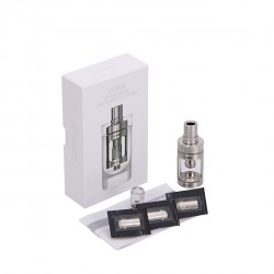 Joyetech  CUBIS Atomizer Kit 3.5ml Adjustable Airflow No Spilling Atomizer with Bottom Feeding Coil BF SS316/Clapton Head-Silver