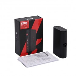 Kanger  KBOX 120W VW/TC Box Mod Powered by Dual 18650 Cells Spring-loaded 510 Connection-Black