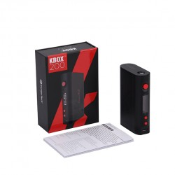 Kanger  KBOX 200W VW/TC Box Mod Powered by Dual 18650 Cells Spring-loaded 510 Connection-Black
