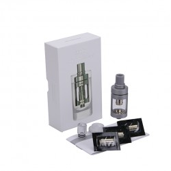 Joyetech  CUBIS Atomizer Kit 3.5ml Adjustable Airflow No Spilling Atomizer with Bottom Feeding Coil BF SS316/Clapton Head-Grey