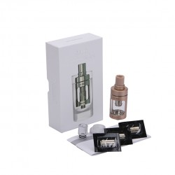 Joyetech  CUBIS Atomizer Kit 3.5ml Adjustable Airflow No Spilling Atomizer with Bottom Feeding Coil BF SS316/Clapton Head-Golden