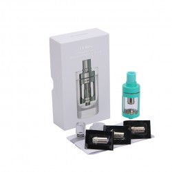 Joyetech  CUBIS Atomizer Kit 3.5ml Adjustable Airflow No Spilling Atomizer with Bottom Feeding Coil BF SS316/Clapton Head-Cyan