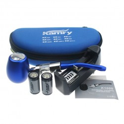Kamry Epipe K1000 Mechanical Kit 18350 900mah Battery 2.5ml X6 V2 Clearomizer with US Plug-Blue