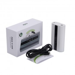 Eleaf iStick TC 100W Box Mod Powered by Dual 18650 Cells Upgradeable Firmware Switchable TC(Ni/Ti/SS/TCR)/VW/Bypass Modes-White
