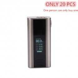 Joyetech Cuboid Mini 80W TC OLED Screen Box Mod with VW/VT/Bypass/TCR Mode and Upgradable Firmware Function-Silver
