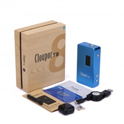 Cloupor T8 150W VV / VW Box Mod - blue