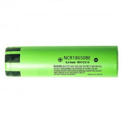 2pcs Panasonic NCR18650BE Flat Top 3.7V Rechargeable 3200mAh 18650 Li-ion Batteries