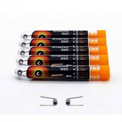Geek Vape  Prebuilt Clapton Replacement Coil Kanthal A1 Wire 26AWG + 32AWG with 7 Circles 5pcs- 1.0 ohm