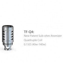 5PCS SMOK TFV4 Coil Head TF-Q4 Quaddruple Coil Head - 0.15ohm