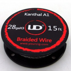 Youde UD Braided Wire Kanthal A1 with 3 28GA Braided Heating Wire 15ft/Roll-28GA*3