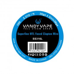 Vandy Vape Superfine MTL Fused Clapton Wire SS316L 30GA*2+38GA