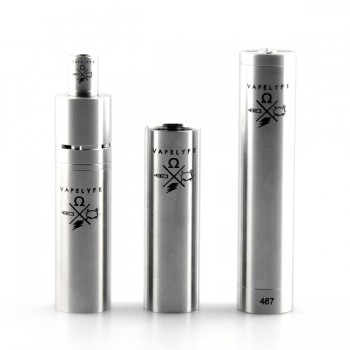 3 in 1 Tesla Vapelyfe Style Mechanical Mod Kit Set with Tri-Post RDA Atomizer-Stainless Steel