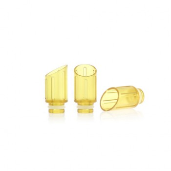 Baffler Type Acrylic 510 Drip Tip e Cigarette Tank Drip Tip for Ego 510 Atomizer 5pcs-Yellow