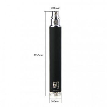 Kanger EVOD VV Battery Multicolor Variable Voltage Battery 1000mah - red