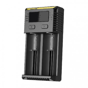 Nitecore UM20 Double Channels Charger with LCD Display - UK Plug