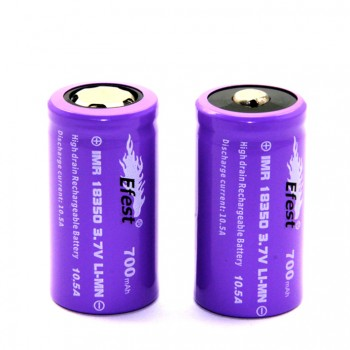 Efest 18350 700mah 10.5A  Rechargeable Battery Button Top-2pcs