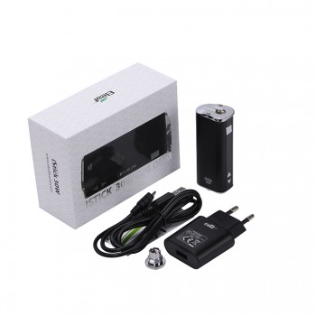 Eleaf iStick Basic 2300mah Mod Battery Simple Packing Magnetic Connector Side Liquid View Window-Black