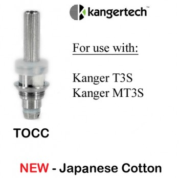 5PCS Kanger New TOCC Organic Cotton Coils for T3S MT3S  - 2.5ohm