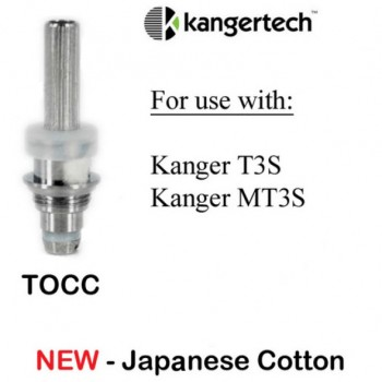 5PCS Kanger New TOCC Organic Cotton Coils for T3S MT3S  - 1.5ohm