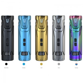 Eleaf iStick TC 100W Box Mod Powered by Dual 18650 Cells Upgradeable Firmware Switchable TC(Ni/Ti/SS/TCR)/VW/Bypass Modes-Grey