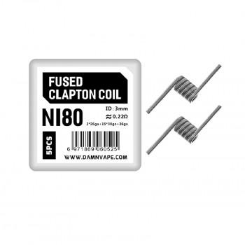 Mongrel RDA ni80 fused clapton coil