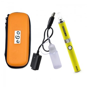EVOD MT3 1100mAh Single Starter Kit Single 1100mah EVOD Battery with MT3 Atomzier in Zipper Case-Yellow