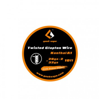 Geek Vape Kanthal A1 26GA*2+32GA Twisted Clapton Wire 10ft - 1.86ohm/ft