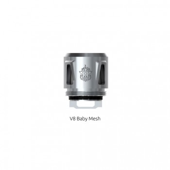 SMOK Sub-ohm Edition Replacement Coil Micro STC2 Core for TFV4 Series Tanks Patented Stainless Steel Dual Core with Temperature Sensing 5pcs-0.25ohm
