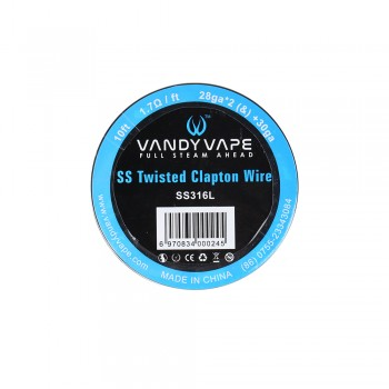 Vandy Vape Twisted Clapton Wire SS 316L 28ga2(&)+30ga