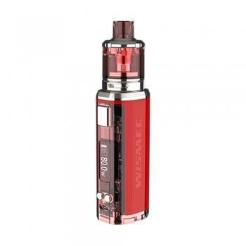 Wismec SINUOUS V80 Kit with Amor NSE Atomizer - Red