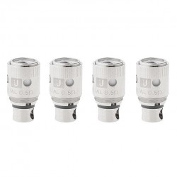 Uwell Crown Replacement Coil for Uwell Crown Tank 4pcs Packing 316L Stainless Steel Dual Coil Head-0.5ohm