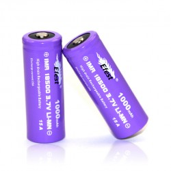 Efest  18500 1000mah 15A Rechargeable Battery Button Top-2pcs