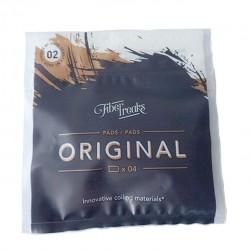 Fiber Freaks Original Pads Density  N° 2 Lyocel Cellulose Wick Dense Cotton Wick for Rebuilding 1pack(4 pads)