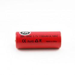 2pcs 18A AW 18490 IMR 1100mAh Li-ion  Flat Top 3.7V Rechargeable Batteries