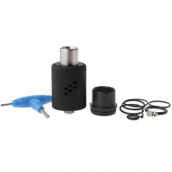 Wotofo Lush RDA Rebuildable Dripping Atomizer Quad Post Adjustable Airflow Control 22mm Diameter-Black
