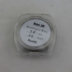 Pure Nickel Ni200 Resistance Wire for Rebuildable Atomizers 24GA 30 Feet for Temperature Control Device