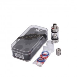 Youde Zephyrus V2 RTA  6.0ml Liquid Capacity Bigger Deck Improved Top Filling Design  (1.8ohm with 0.3ohm OCC Coil Packing)-Stainless Steel