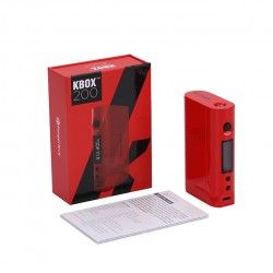 Kanger  KBOX 200W VW/TC Box Mod Powered by Dual 18650 Cells Spring-loaded 510 Connection-Red