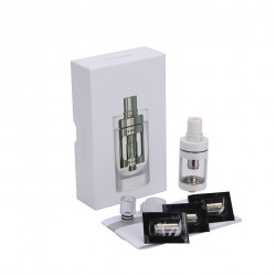 Joyetech  CUBIS Atomizer Kit 3.5ml Adjustable Airflow No Spilling Atomizer with Bottom Feeding Coil BF SS316/Clapton Head-White